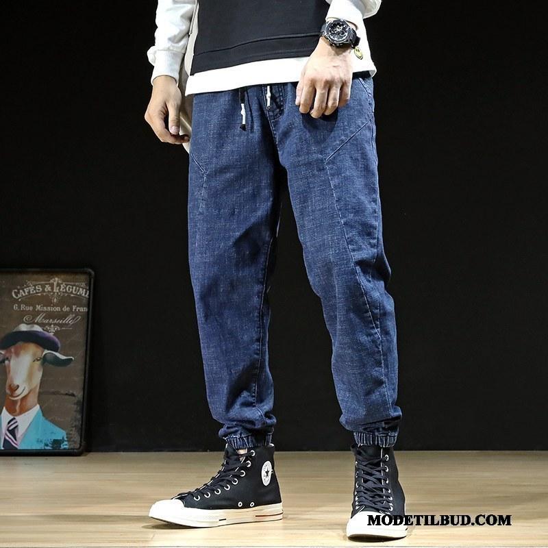 Herre Jeans Salg Stramme Fede Store Størrelser Cowboybukser Mænd Blå