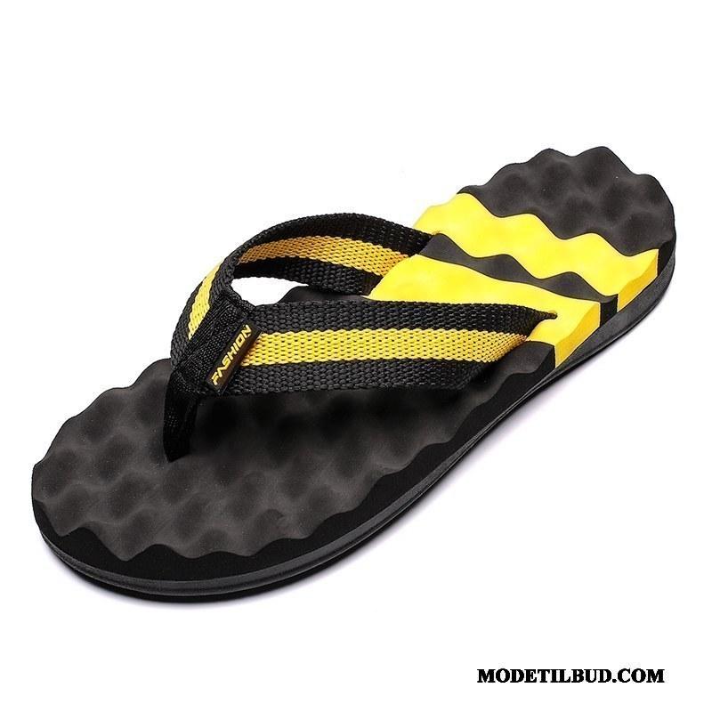 Herre Klipklappere Billige Mode Mænd Sommer Skridsikre Udendørs Gul Sand