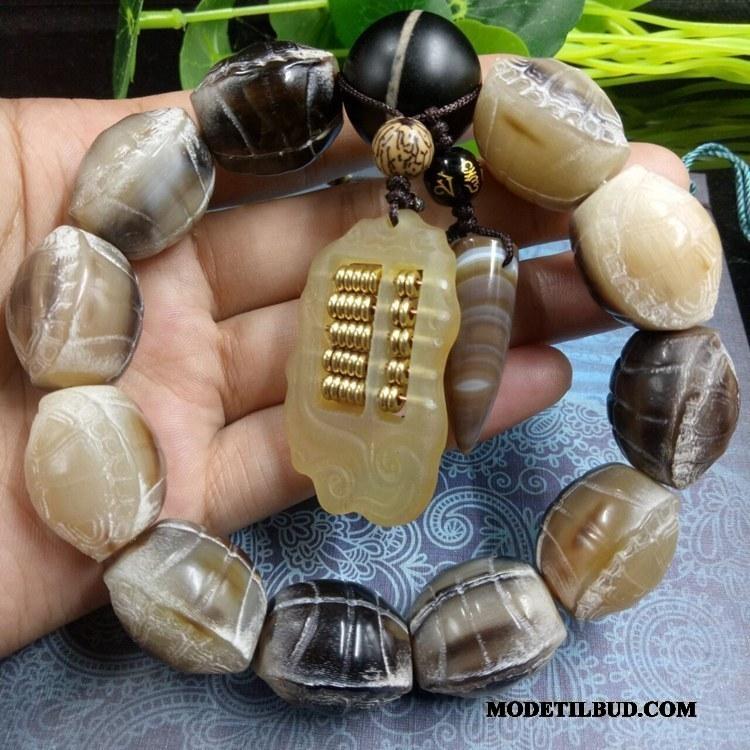 Herre Perle Armbånd Billige Skulptur I Hånden Damer Vedhæng Mænd Hvid Brun
