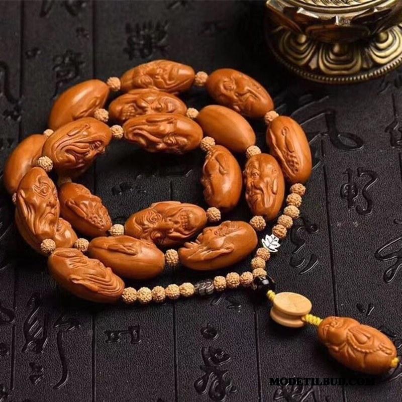 Herre Perle Armbånd Køb I Hånden Stor Naturlig Skulptur Brun