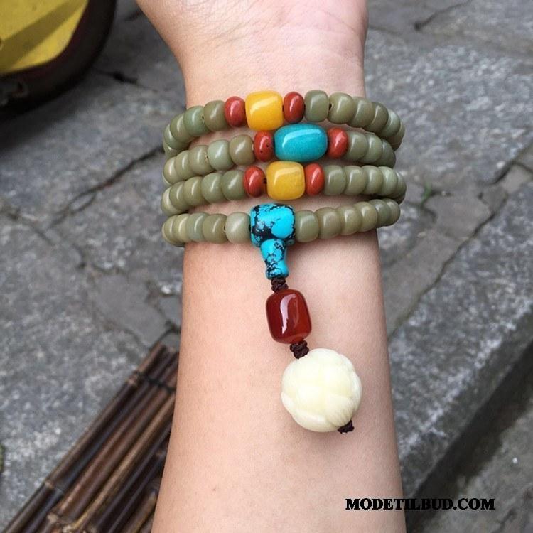 Herre Perle Armbånd Rabat Læder Mænd Kvinder Grøn