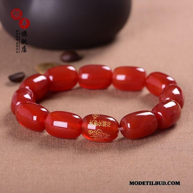 Herre Perle Armbånd Tilbud Mænd Naturlig Kvinder Hjerte Rød