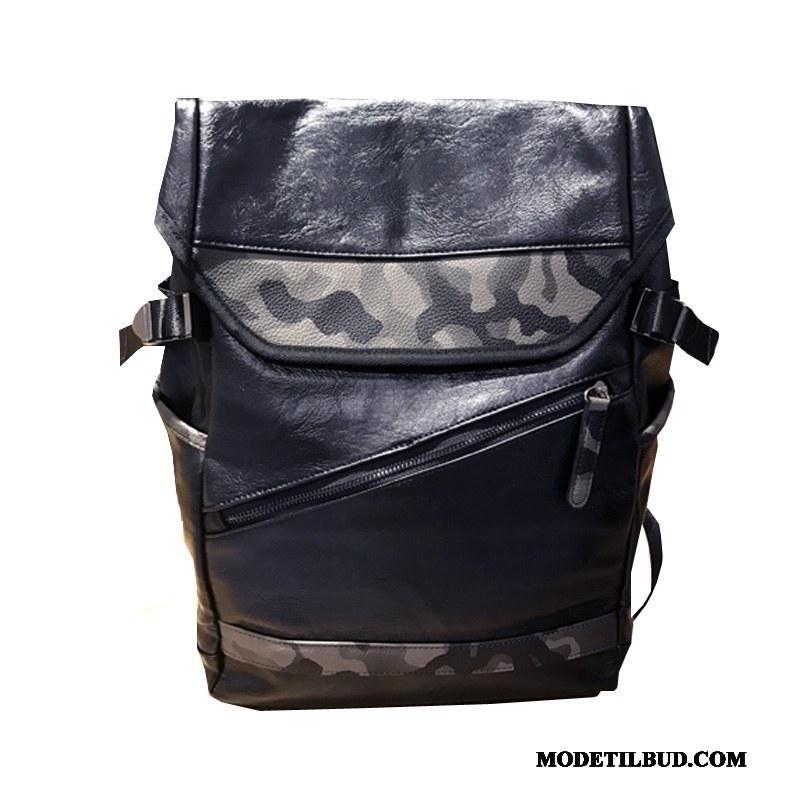 Herre Rygsække Billig Trend Personlighed Mode Mænd Rejse Camouflage Sort