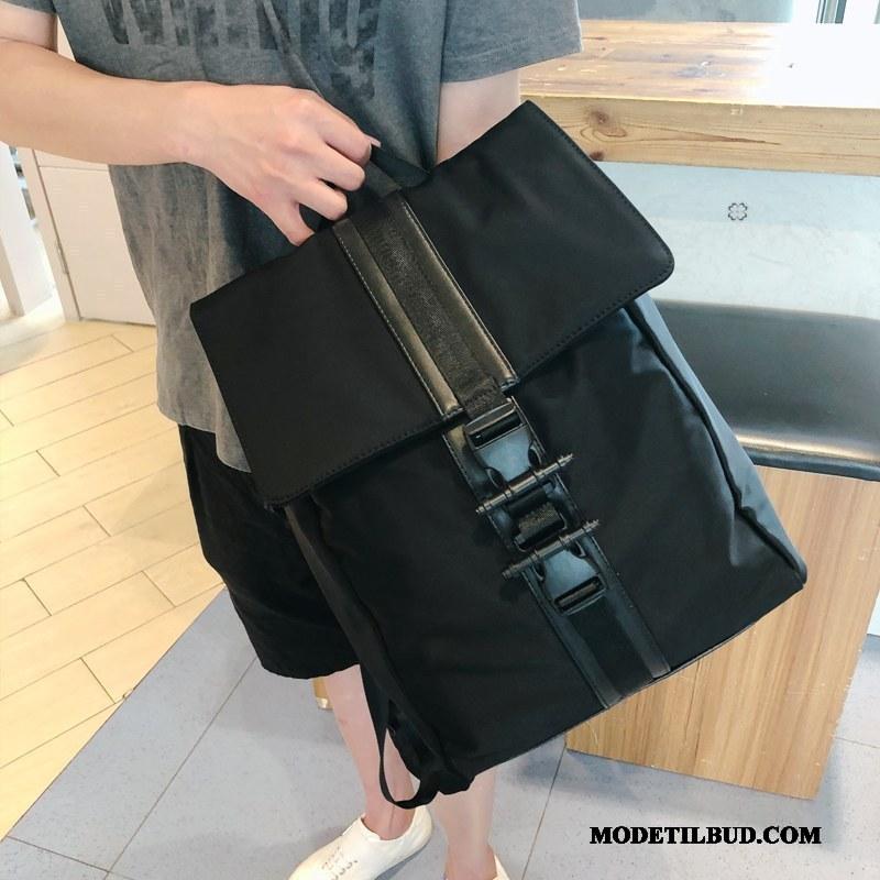 Herre Rygsække Butik Alt Matcher Mode Ny Skoletaske Personlighed Sort