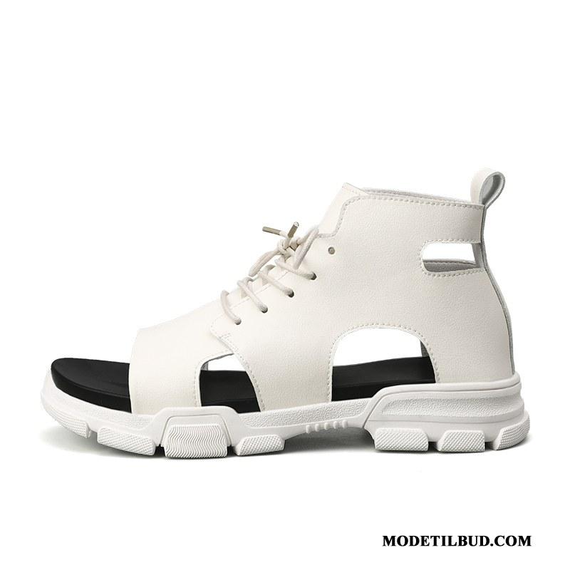 Herre Sandaler Tilbud Casual Fritids Skridsikre Rom Mode Åndbare Hvid