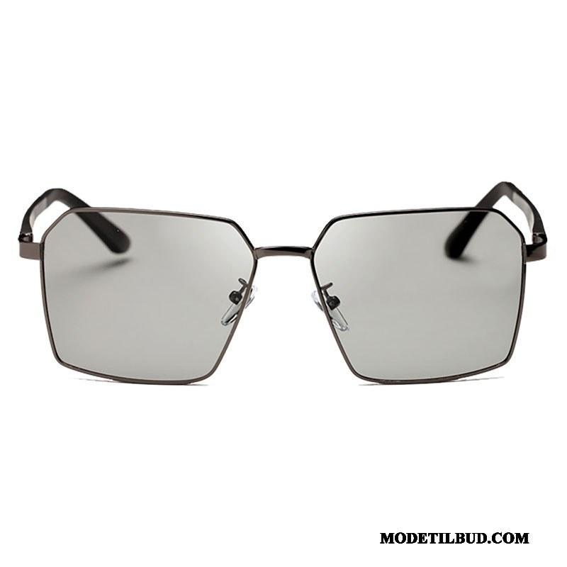 Herre Solbriller Billige Gaveæske Køre Multifunktions Trend Polarisator Sølv