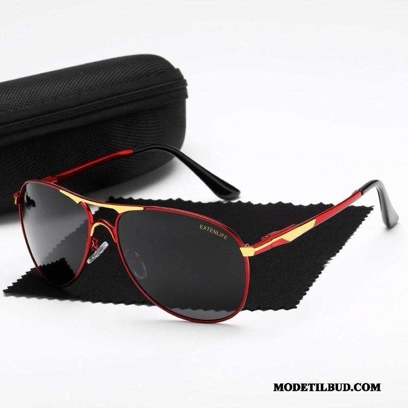 Herre Solbriller Billige Køre Tudse Trend Polarisator Mænd Rød