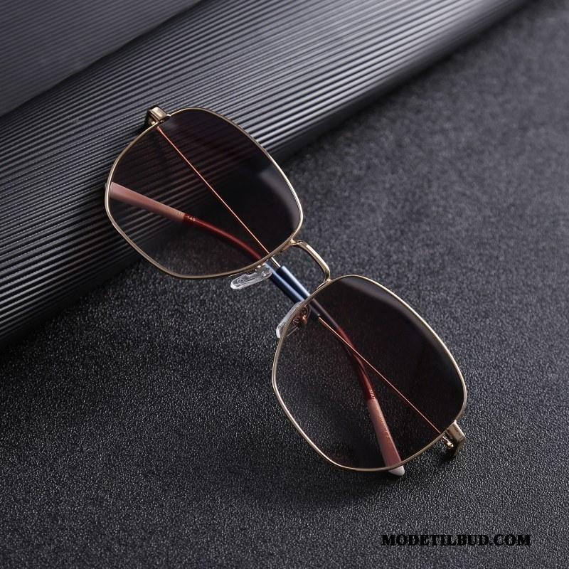 Herre Solbriller Udsalg Mænd Personlighed Mode Polarisator Køre Gradient Farve Sort Guld