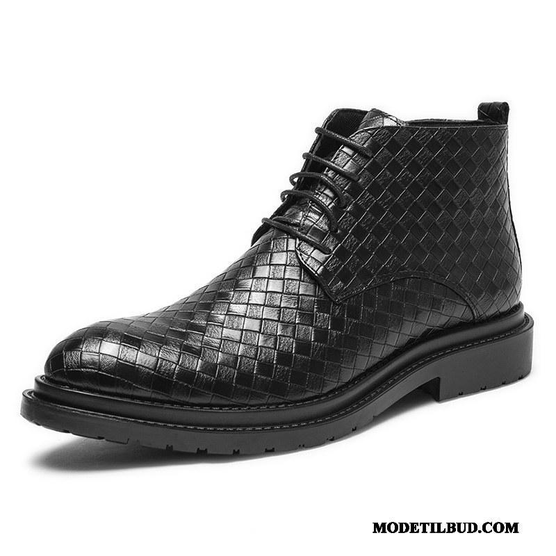 Herre Støvler Billige Forår Britisk Korte Støvler Høje Martin Støvler Sort