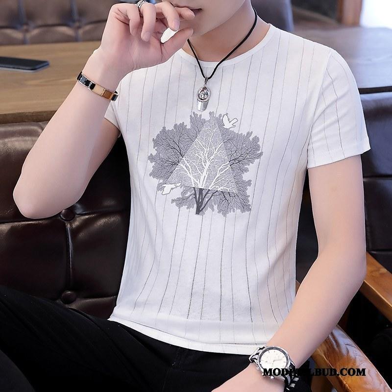 Herre T-shirts Salg Studerende Sommer Slim Fit Fritids Tynde Hvid